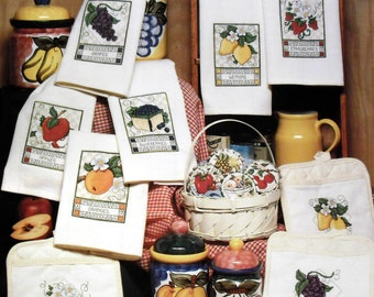 Fruit Tarts & Towels; Stoney Creek Collection; Cross Stitch Patterns