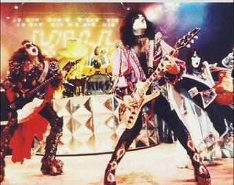 KISS Band 1979 Largo Maryland Dynasty Era Reproduction Counter-Top Stand-Up Display - KISS Band Gift Idea KISS Collectibles