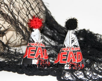 The Walking Dead Party Hat // The Walking Dead Mini Birthday Hat // Ready to Ship // by Born TuTu Rock