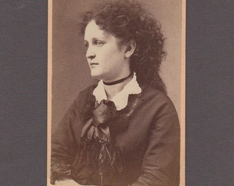 Portrait CDV of a Curly Haired Woman