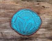 Hold for Cara-Sale-Organic Turquoise Lace Cheese Board Appetizer Tray