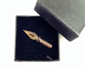 Calligraphy Nib Brooch - Gift for Calligraphers - Gold color - Real Nib - Calligraphy Gift