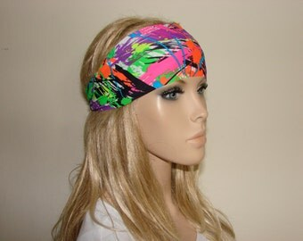 yoga headband - multicolor fitness headband - running headband - workout headband - woman girlhair band