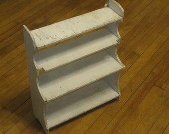 Shabby Chic Shelving , Display Shelf , Antique Shelf Unit , 4 Shelf Unit
