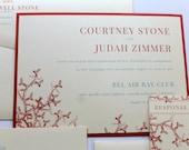 Coral Reef Wedding Invitation - Deposit To Get Started - Beach Wedding - Nautical Wedding