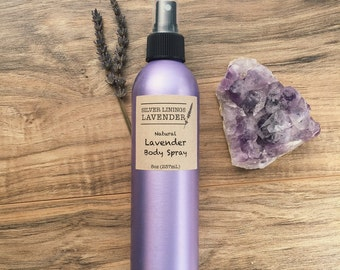 All Natural Lavender Body Spray with Lavender Essential Oil