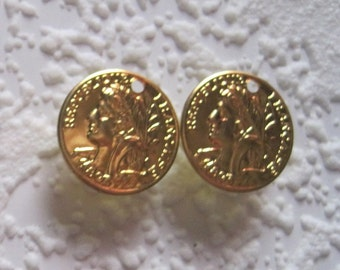 Republique Francaise 16MM French France Replica Gold Coin Charms