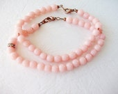 Pale Pink Bracelet. String of Beads. Boho Layered Jewelry. Summer Beach Jewelry. Boho Gypsy Style Bracelet. Stackable Rustic Jewelry