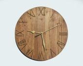 10'' wooden wall clock