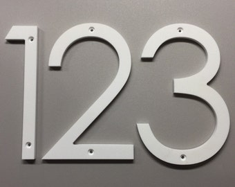 6 art deco house numbers letters black or white by spencers0. Black Bedroom Furniture Sets. Home Design Ideas
