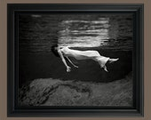 Vintage Photo Lady in the Water 1947 - Beautiful Wall Art