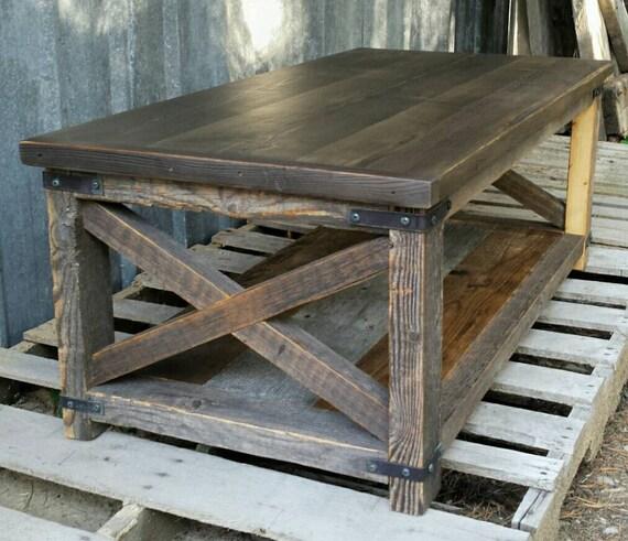 Industrial Coffee Table Rustic: Rustic Industrial X Coffee Table
