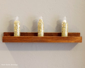 Minimalist Shelf - Picture Shelf - Rustic Modern Ledge Shelf - Floating Shelf