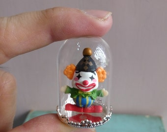 Dollhouse Miniature Glass Dome with doll inside