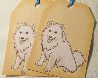 cute dog gift tags - animal note - puppy favor tags