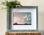Teal Frame - Rustic Frame - Shadow Box Frame - 8x10 Frame - Distressed Frame - Primitive Frame