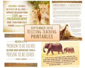 September 2016 Visiting Teaching Message Printable Instant Download - LDS - Mormon - VT Message