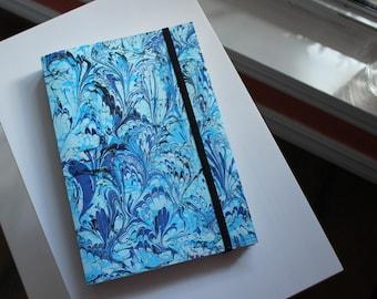 Handmade Blank Book - Notebook, Travel Journal, Art Journal - Hand-Marbled Paperback Cover - item #88/100