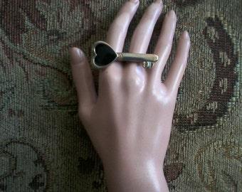 """Double Finger """"Key"""" Ring"""