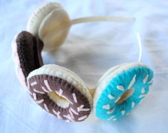 Cute Donut Headband - Donut Tiara Felt Plush Accessory