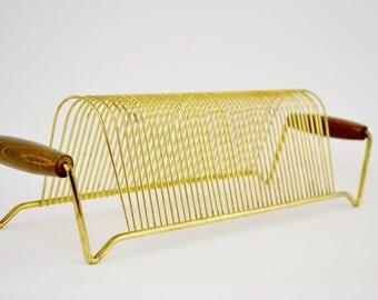 Vintage  Gold Tone Wire Ablum Holder
