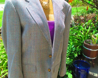 Vintage 80's Men's Grey Suit Jacket size large free shipping