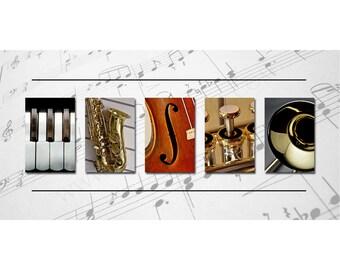 "MUSIC -  Letter Art Photography Design - Wall Art - Shelf Art - Panoramic (10""x20"")"