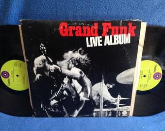 "Vintage, Grand Funk Railroad- ""Live Album"" Vinyl LP Record Album, Original 1970 First Press, Heartbreaker, Mean Mistreater, Are You Ready"