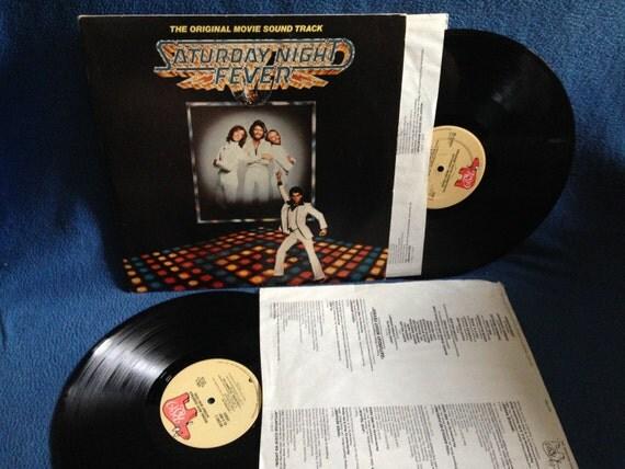 "Vintage, Saturday Night Fever - ""Original Soundtrack"" Double LP, Vinyl Record Album, Original 1977, John Travolta, Bee Gees, Classic Disco"