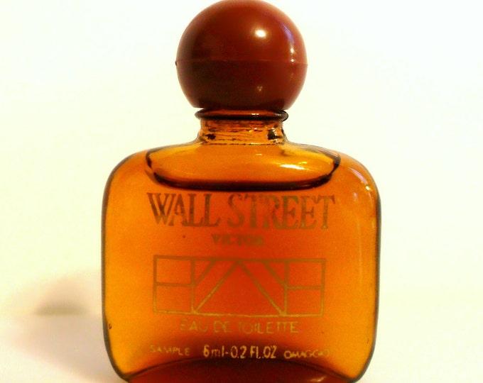 Vintage 1980s Wall Street by Victor 0.02 oz Eau de Toilette Miniature Cologne Mini Perfume