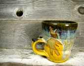 Coffee mug, Handmade Mug, Ceramic Mug, Clay Mug, Pottery Mug, Hand Thrown Mug, Unique Mug, Handcrafted Mug, Hand Painted Mug