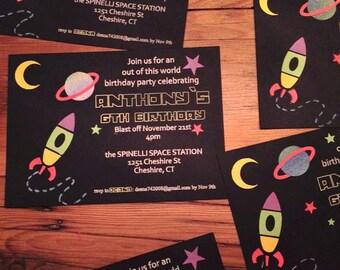 Invitations - Space Birthday Invitations - Blast Off!