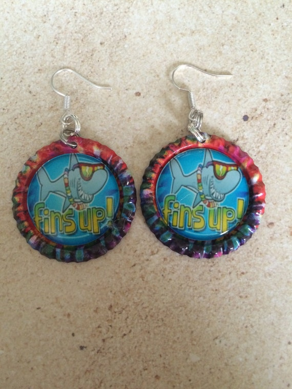 Jimmy buffett jewelry fins up earrings tie dye by for Jimmy s fine jewelry
