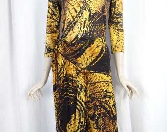 Roberto Cavalli 2 piece PYTHON snakeskin print stretch skirt and top/cotton and wool jersey: size IT 46= 12 US