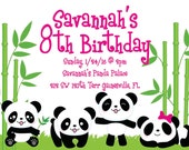 Panda Party Birthday Invitation