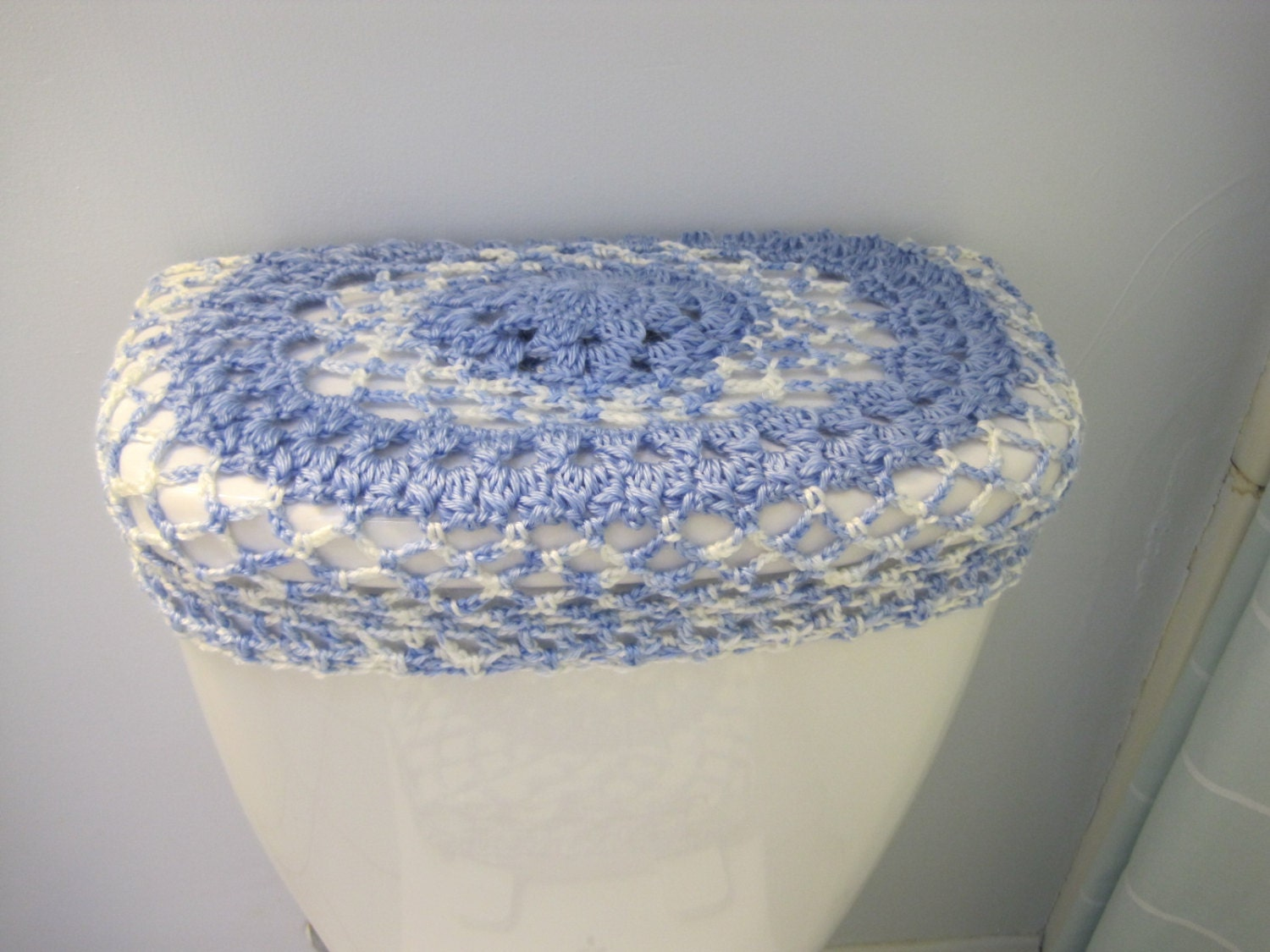 Crochet Toilet Tank Lid Cover Or Toilet Seat Cover Robin