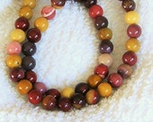 Mookaite Jasper 8mm beaded natural gemstone, yellow, red, gold stretch, stacking, healing, unisex, girls, boys bracelet  SS012