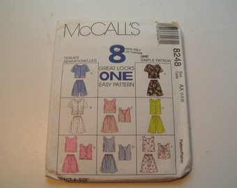 McCalls Pattern 8248 Miss Tops and Pull on Shorts
