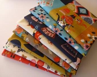 Fat Quarter Bundle, Organic Cotton Fabric - Birch Fabrics Wildland