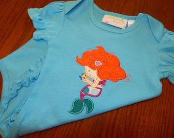 Mermaid with fish Baby Bodysuit (12-18 mo)