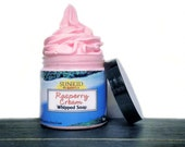 Fluffy Whipped Soap - Body Wash -  Cream Soap - Raspberry Cream - Foaming Bath Whip - SLS Free - Propylene Glycol Free - 8oz.