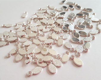 6*12mm Silver Color Bails - for turning cabochons into charms - 20 pc set