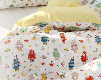 Robots Oxford Cotton Fabric - By the Yard 89068