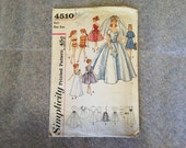 1960s Original Vintage BARBIE Doll Clothing Patterns Simplicity Sewing Pattern #4510