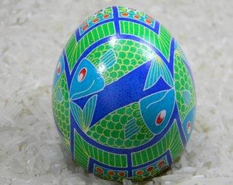 Fishes Go Round n' Round Ukrainian Egg