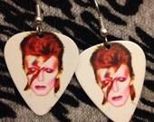 David Bowie Guitar Pick Earrings
