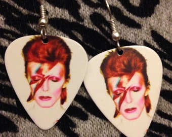 David Bowie Guitar Pick Earrings
