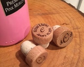 150 Personalized wine stoppers, Engraved wine stopper, Wedding Favor