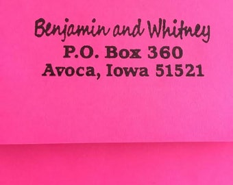 HUGE SALE Personalized Self Inking Return Address Stamp