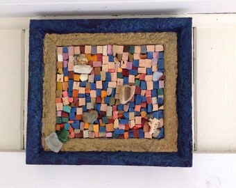 Mosaic Smalti Mixed Media - A Day at the Beach